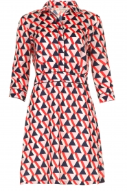 Kocca |  Printed dress Yoel | red  | Picture 1