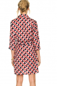Kocca |  Printed dress Yoel | red  | Picture 6