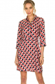 Kocca |  Printed dress Yoel | red  | Picture 4