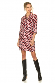 Kocca |  Printed dress Yoel | red  | Picture 3