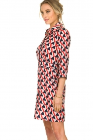 Kocca |  Printed dress Yoel | red  | Picture 5