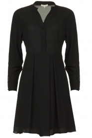 Kocca |  Dress with fringes Ozena| black   | Picture 1