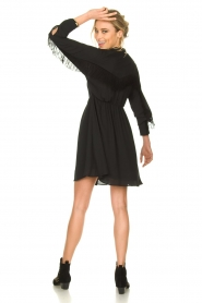 Kocca |  Dress with fringes Ozena| black   | Picture 3