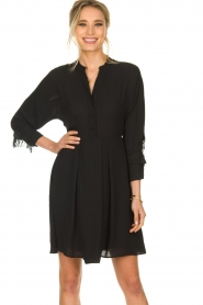 Kocca |  Dress with fringes Ozena| black   | Picture 2