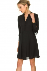 Kocca |  Dress with fringes Ozena| black   | Picture 6