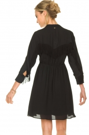Kocca |  Dress with fringes Ozena| black   | Picture 5