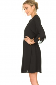 Kocca |  Dress with fringes Ozena| black   | Picture 4