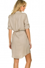 Kocca |  Blouse dress with belt | grey   | Picture 5