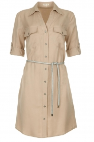Kocca |  Blouse dress with belt | grey   | Picture 1