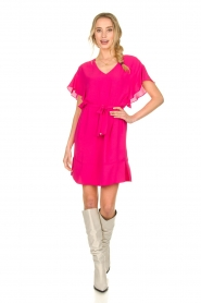 Kocca |  roze | Dress with belt Lifana  | Picture 3