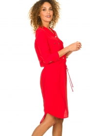 Kocca |  Dress with button details Under | red  | Picture 5