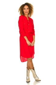 Kocca |  Dress with button details Under | red  | Picture 3