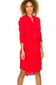 Kocca |  Dress with button details Under | red  | Picture 2