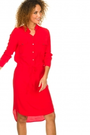 Kocca |  Dress with button details Under | red  | Picture 6