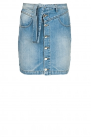 Kocca |  Denim skirt with belt Okay | blue  | Picture 1