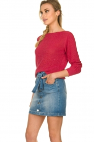 Kocca |  Denim skirt with belt Okay | blue  | Picture 4