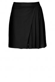 Kocca |  Skirt with wrap effect Pandy | black