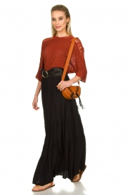 Kocca |  Maxi skirt with pleats Paquita | black  | Picture 2