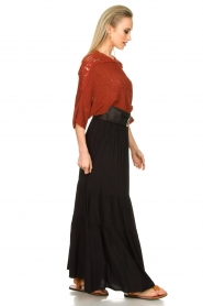 Kocca |  Maxi skirt with pleats Paquita | black  | Picture 5