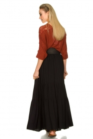 Kocca |  Maxi skirt with pleats Paquita | black  | Picture 6