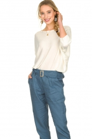 Kocca |  Sweater with half long sleeves Adams | naturel  | Picture 2