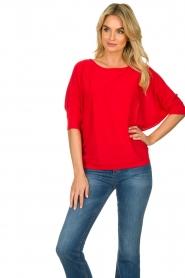 Kocca |  Classic sweater Adams | red  | Picture 4
