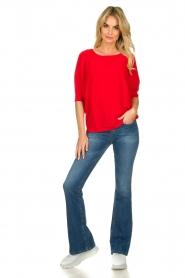 Kocca |  Classic sweater Adams | red  | Picture 3