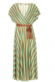 Kocca |  Striped maxi dress Kifam | green  | Picture 1