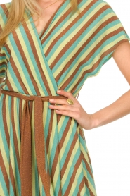Kocca |  Striped maxi dress Kifam | green  | Picture 4