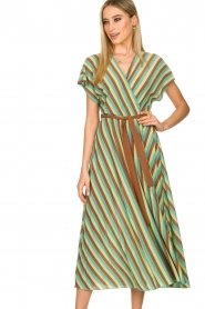 Kocca |  Striped maxi dress Kifam | green  | Picture 5