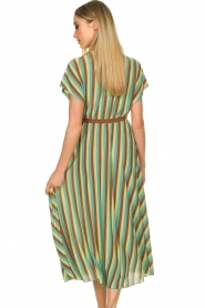 Kocca |  Striped maxi dress Kifam | green  | Picture 7