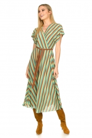 Kocca |  Striped maxi dress Kifam | green  | Picture 3