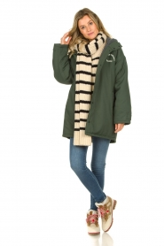American Vintage |  Teddy lined parka Pinede | green  | Picture 3
