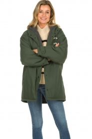 American Vintage |  Teddy lined parka Pinede | green  | Picture 2