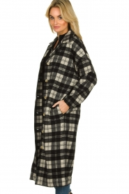 American Vintage |  Long checkered coat Billy | Black white  | Picture 5