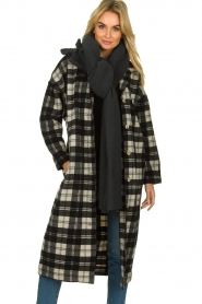 American Vintage |  Long checkered coat Billy | Black white  | Picture 2
