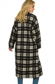 American Vintage |  Long checkered coat Billy | Black white  | Picture 6