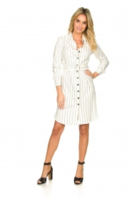 Kocca |  Buttoned dress Beryl | white  | Picture 3