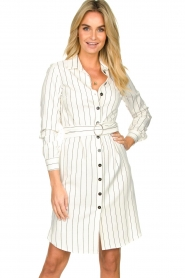 Kocca |  Buttoned dress Beryl | white  | Picture 2