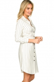 Kocca |  Buttoned dress Beryl | white  | Picture 4