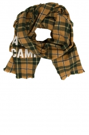 American Vintage |  Checkered scarf Gabilan | camel  | Picture 1