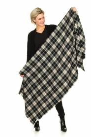 American Vintage |  Checkered scarf Gabilan | black and white  | Picture 2