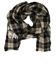 American Vintage    Checkered scarf Gabilan   black and white    Picture 1