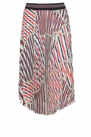 Kocca |  Pleated midi skirt with print Osyl | multi  | Picture 1