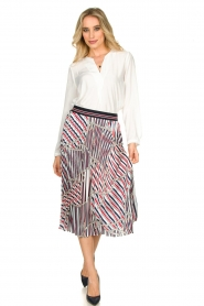 Kocca |  Pleated midi skirt with print Osyl | multi  | Picture 3
