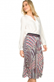Kocca |  Pleated midi skirt with print Osyl | multi  | Picture 2