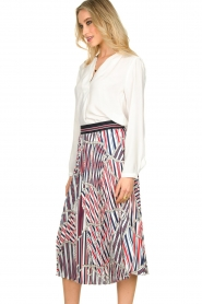 Kocca |  Pleated midi skirt with print Osyl | multi  | Picture 4