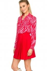 Kocca |  Zebra print blouse Ghirola | pink  | Picture 5