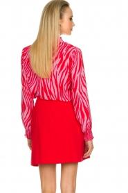 Kocca |  Zebra print blouse Ghirola | pink  | Picture 6
