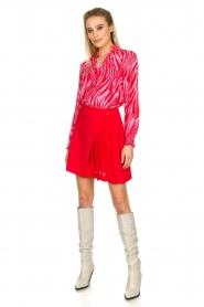 Kocca |  Zebra print blouse Ghirola | pink  | Picture 3